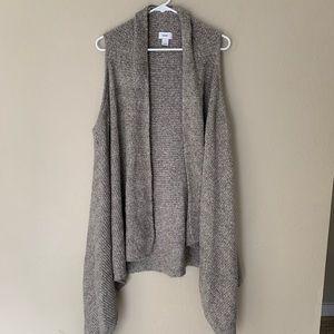 Gray Cardigan Vest